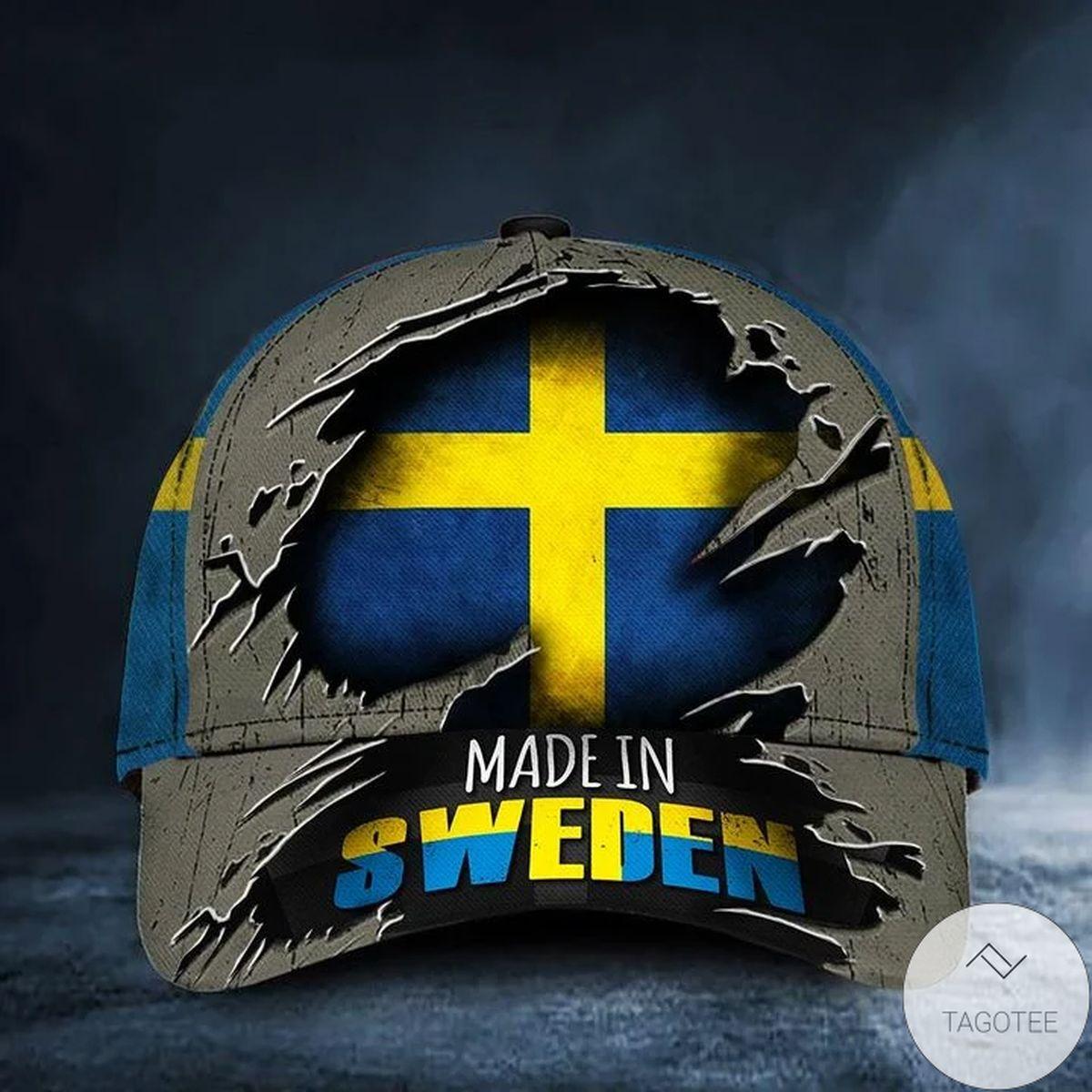Made In Sweden Cap Sweden Flag Old Retro Hat Unique Proud Hornor Swedish Gift Merch