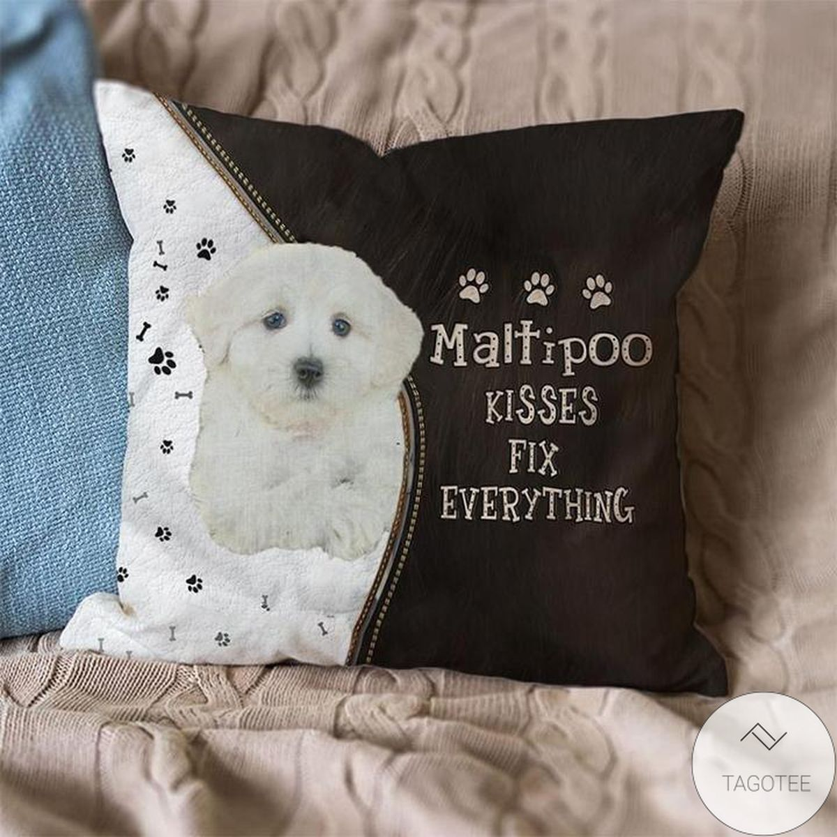 Maltipoo Kisses Fix Everything Pillowcase