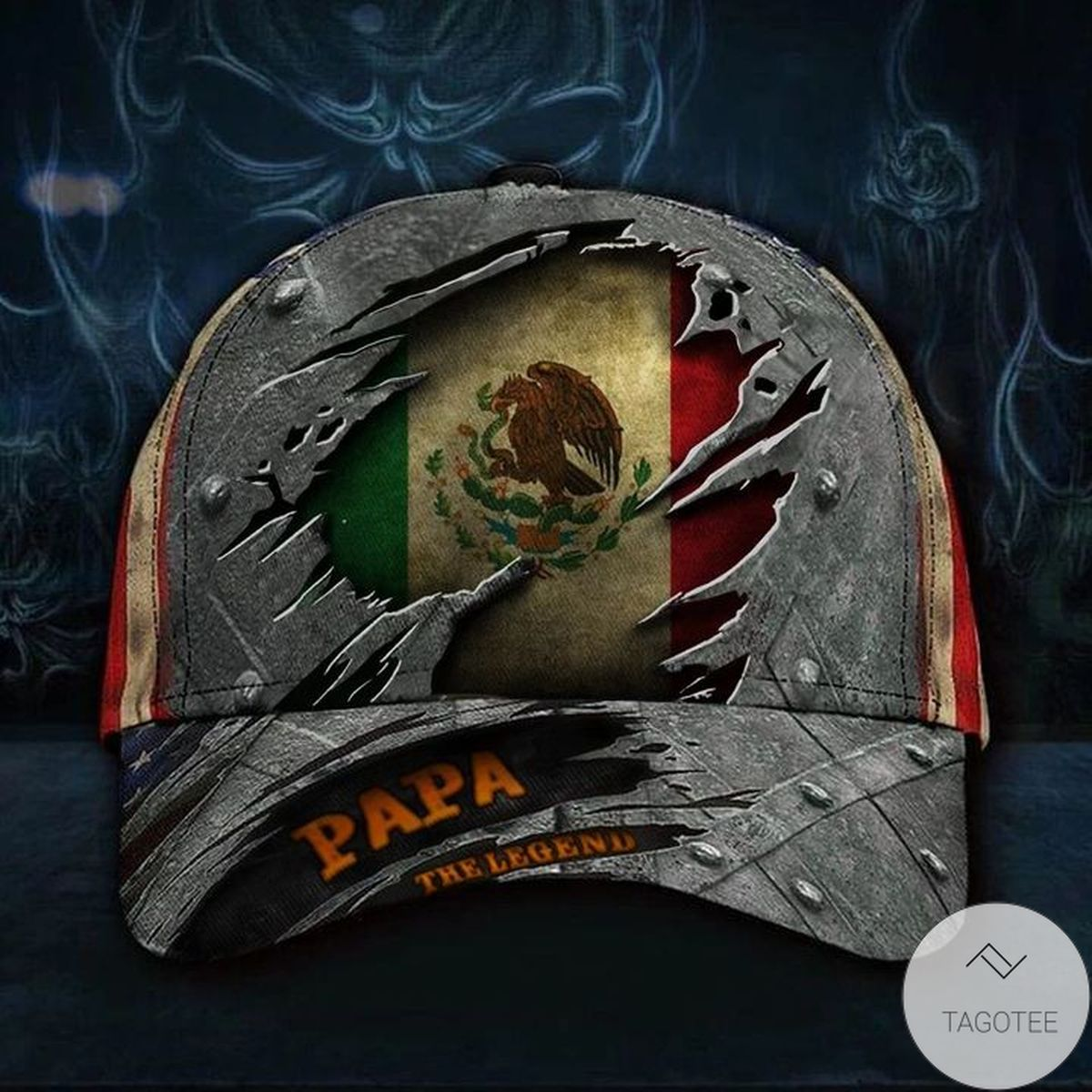 Luxury Mexico Papa The Legend 3D Hat Vintage USA Flag Cap Sentimental Gifts For Dad From Daughter