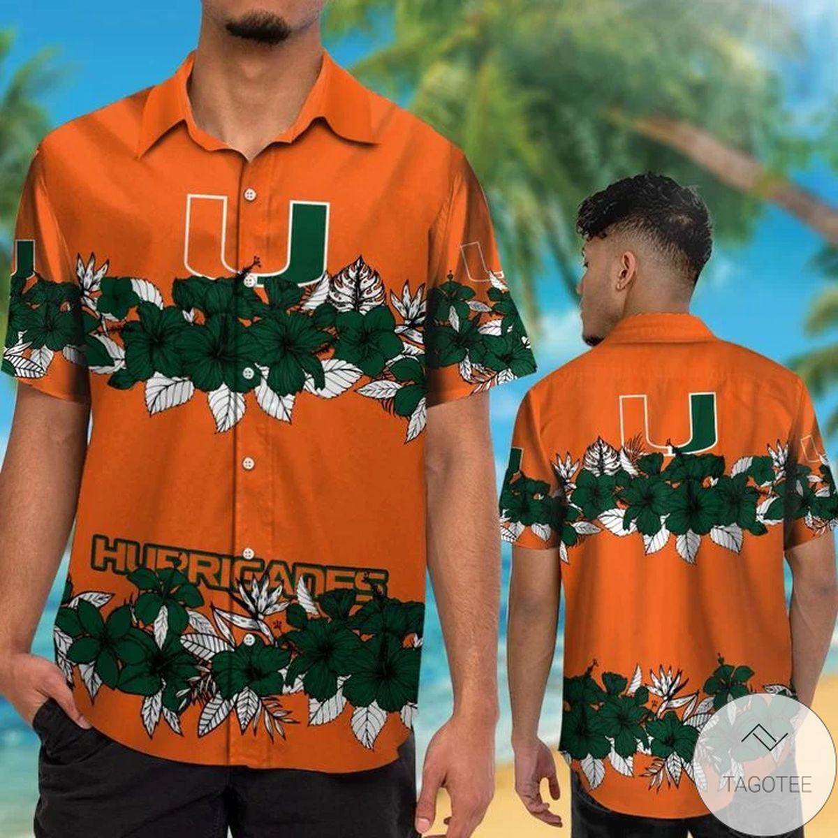 Miami Hurricanes Hawaiian Shirt