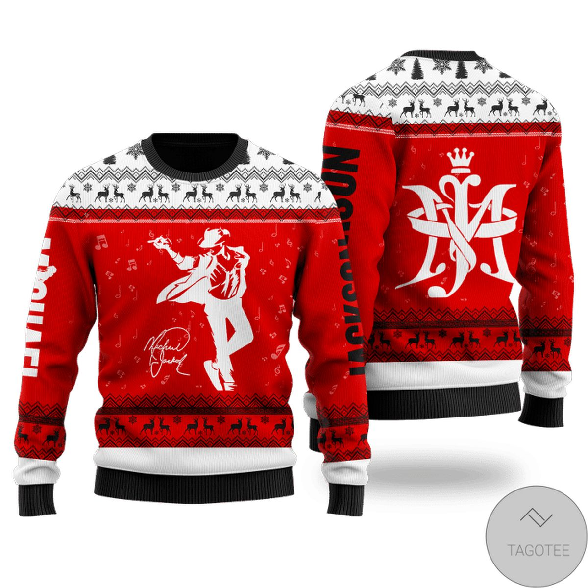 Gorgeous Michael Jackson Ugly Christmas Sweater