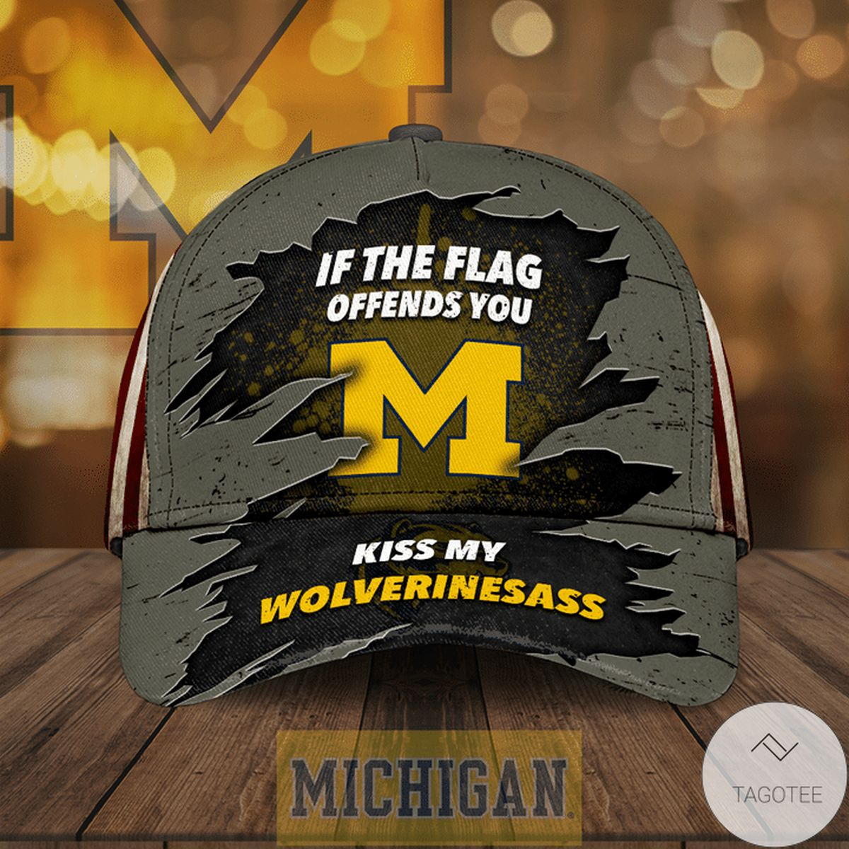 Review Michigan Wolverines If The Flag Offends You Cap