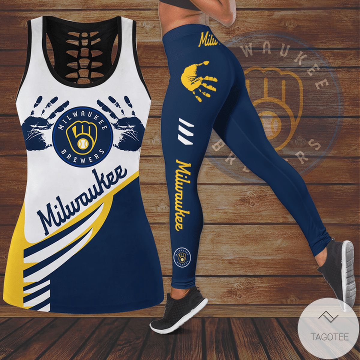 Milwaukee Brewers Hallow Tank Top And Leggings