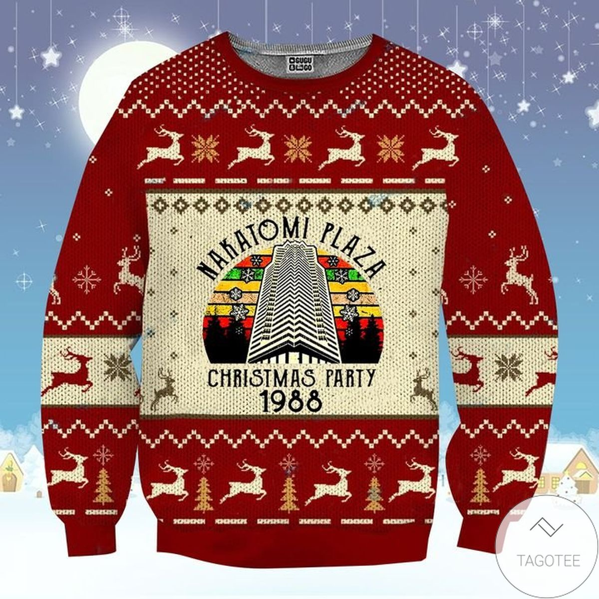 Best Shop Nakatomi Plaza Christmas Party 1988  Ugly Christmas Sweater