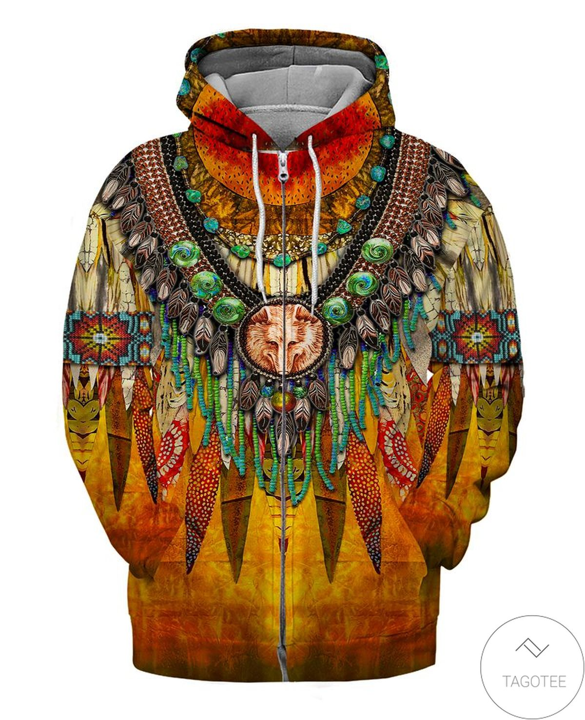 Funny Tee Native Pride Zip Hoodie