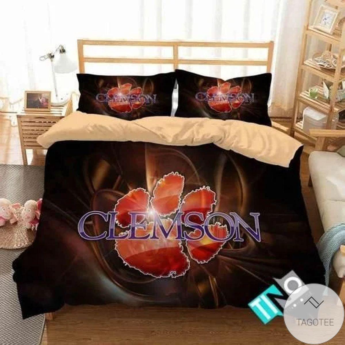 Ncaa Clemson Tigers Bedding Set