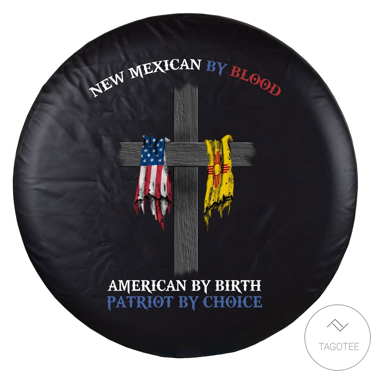 New Mexico By Blood American By Birth Spare Tire Cover