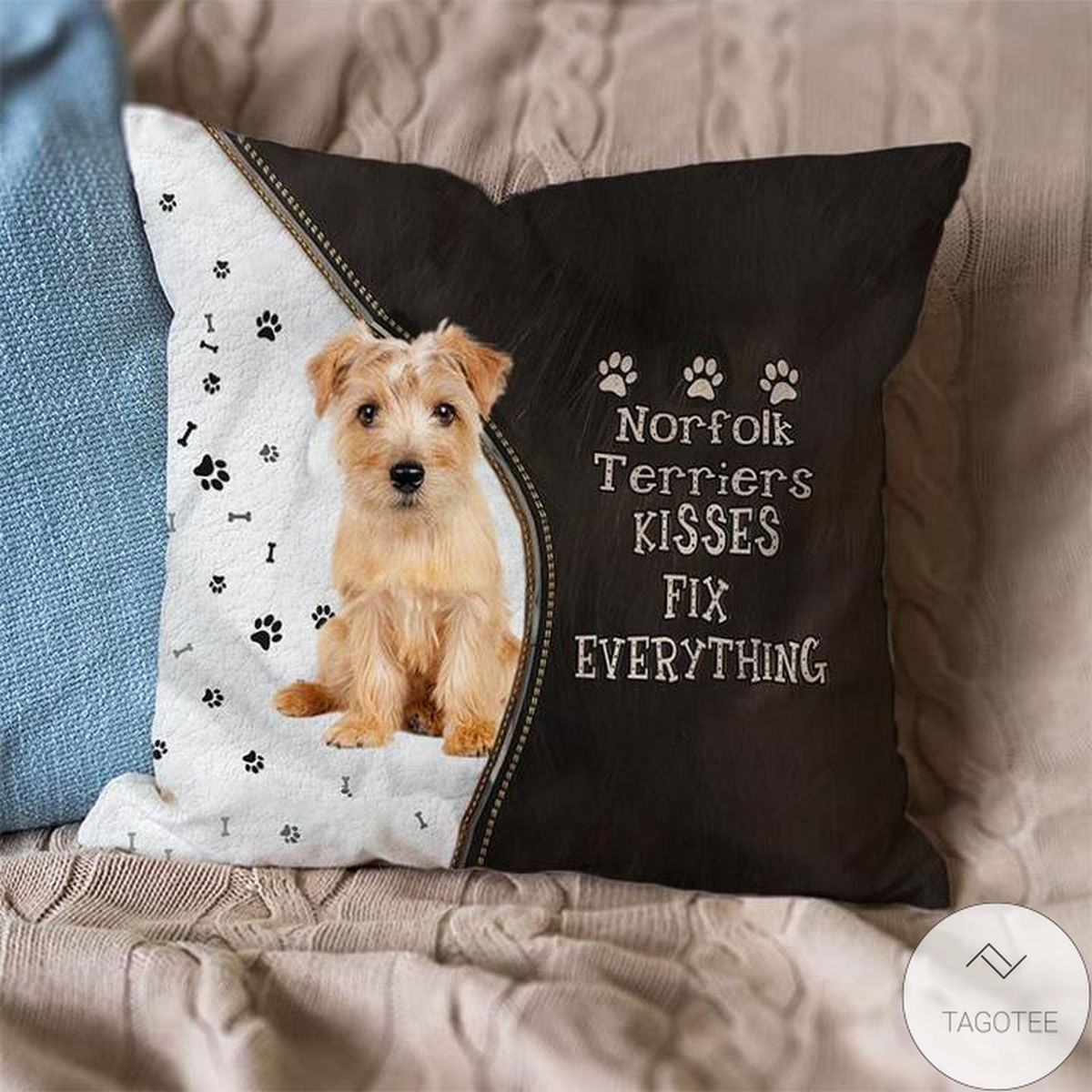 Norfolk Terriers Kisses Fix Everything Pillowcase
