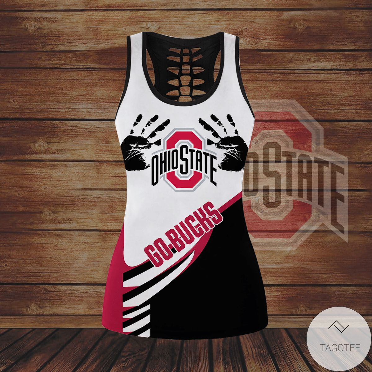 Hot Ohio State Buckeyes Hollow Tank Top And Leggings