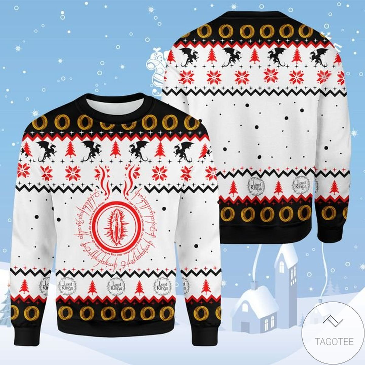 Us Store One Ring Lord Of The Rings Ugly Christmas Sweater
