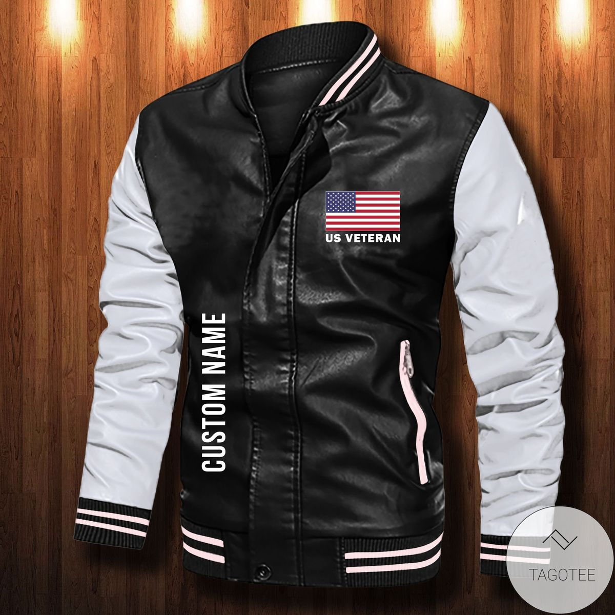 Very Good Quality Personalized America's True Form Of Freedom Leather Bomber Jacket
