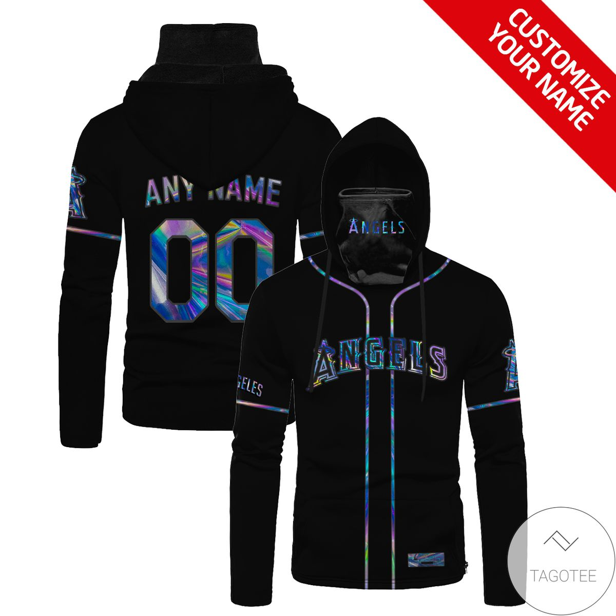 Personalized Angles Hologram Gaiter Mask Hoodie