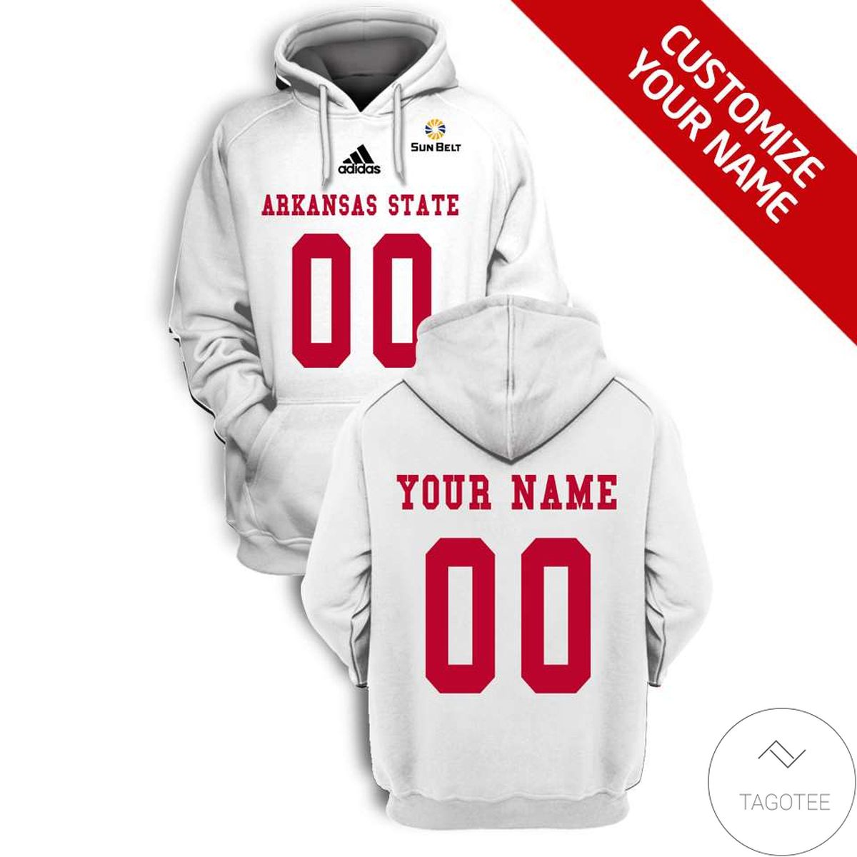 Personalized Arkansas State Red Wolves Branded Unisex 3d Hoodie