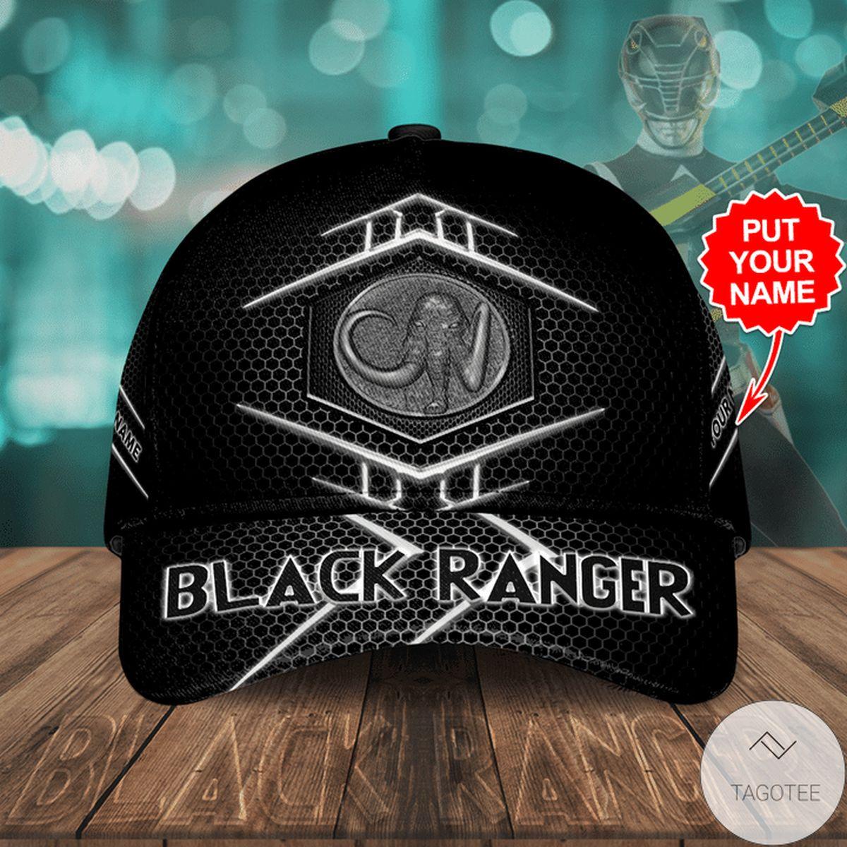 Personalized Black Ranger Cap