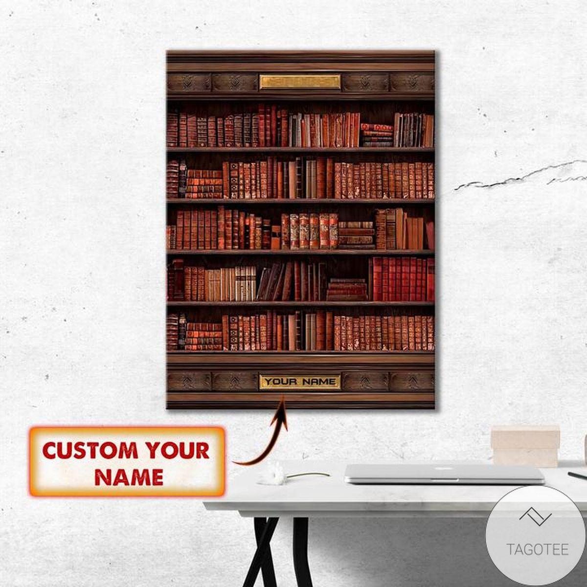 Personalized Book Shelf Ornament