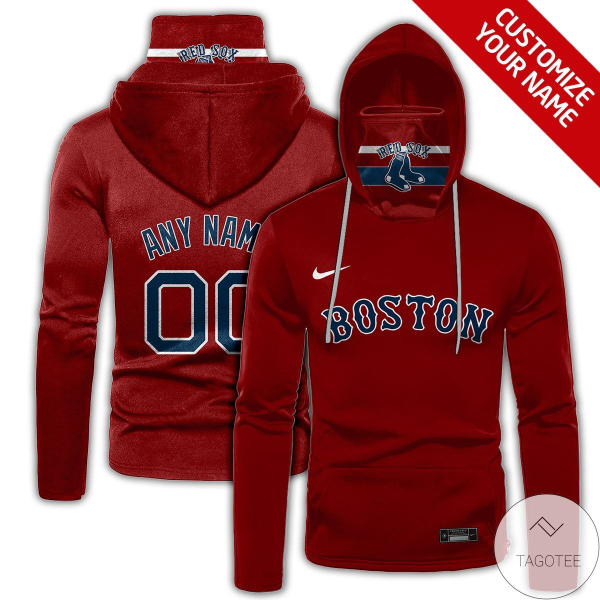 Personalized Boston Red Sox Gaiter Mask Hoodie