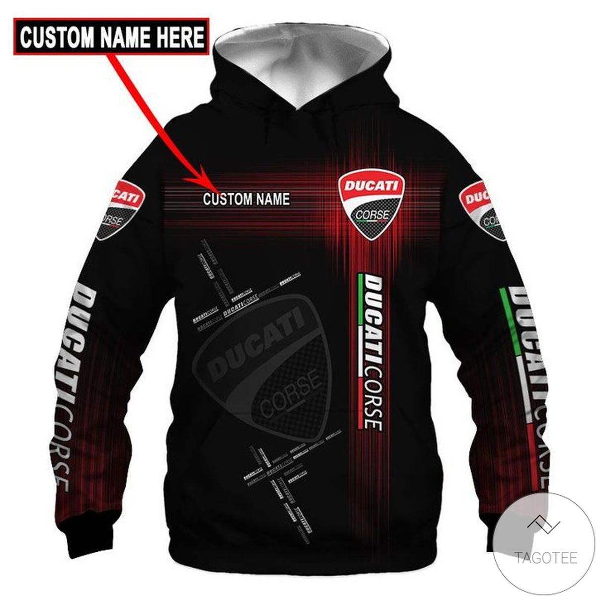 Where To Buy Personalized Ducati Corse 3d Hoodie