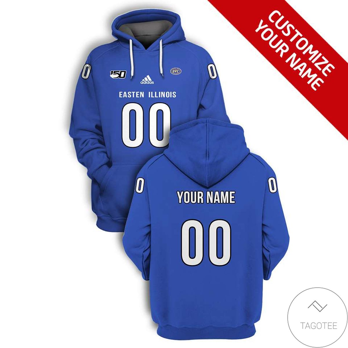 Personalized Eastern Illinois Panthers Branded Team Unisex 3d Hoodie