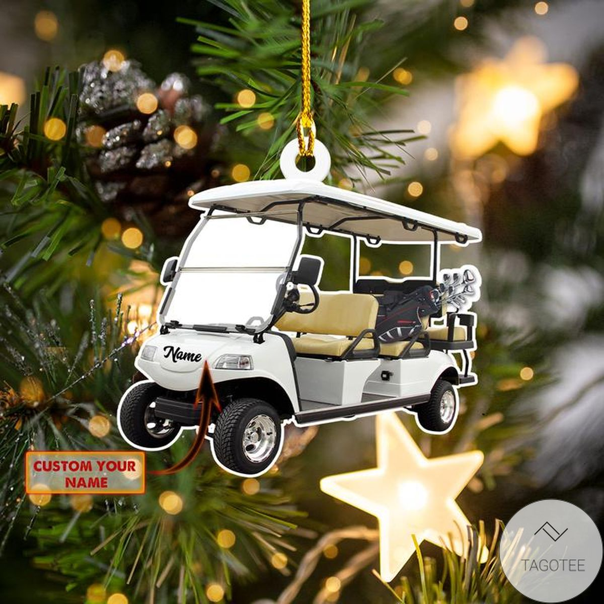 Personalized Golf Cart Ornament