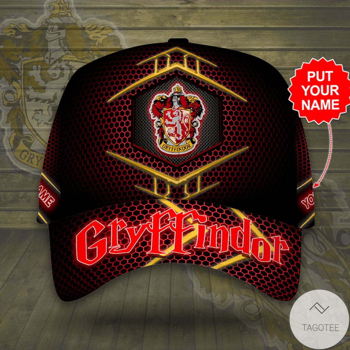 Great artwork! Personalized Harry Potter Gryffindor Cap