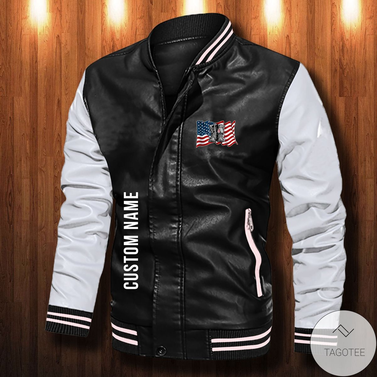 Personalized I Didn't Go To Harvard I Went To Port Hood Leather Bomber Jacket