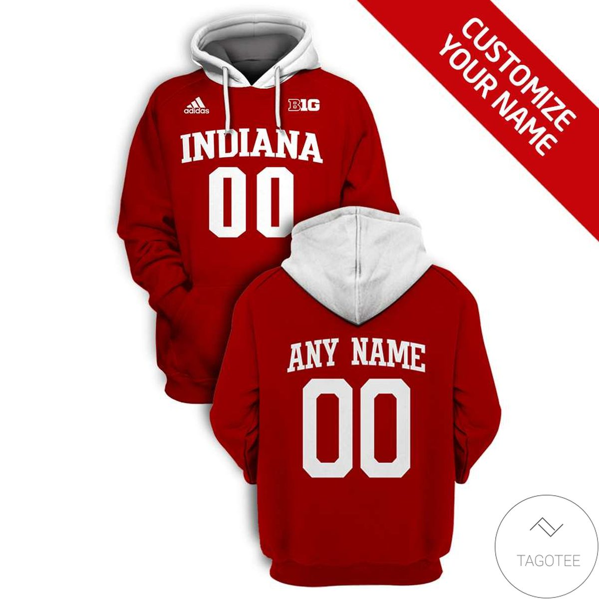 Very Good Quality Personalized Indiana Hoosiers Branded Unisex 3d Hoodie