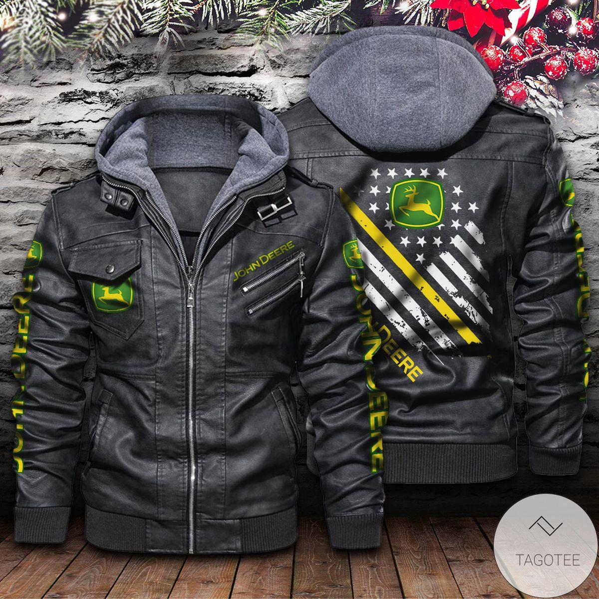 Personalized John Deere Leather Jacket