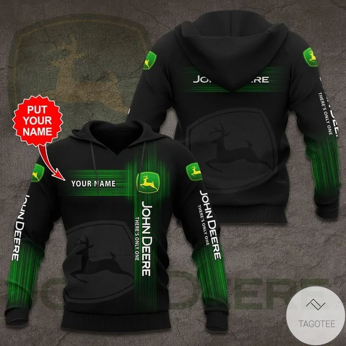 Personalized John Deere There's Only One 3d Hoodie