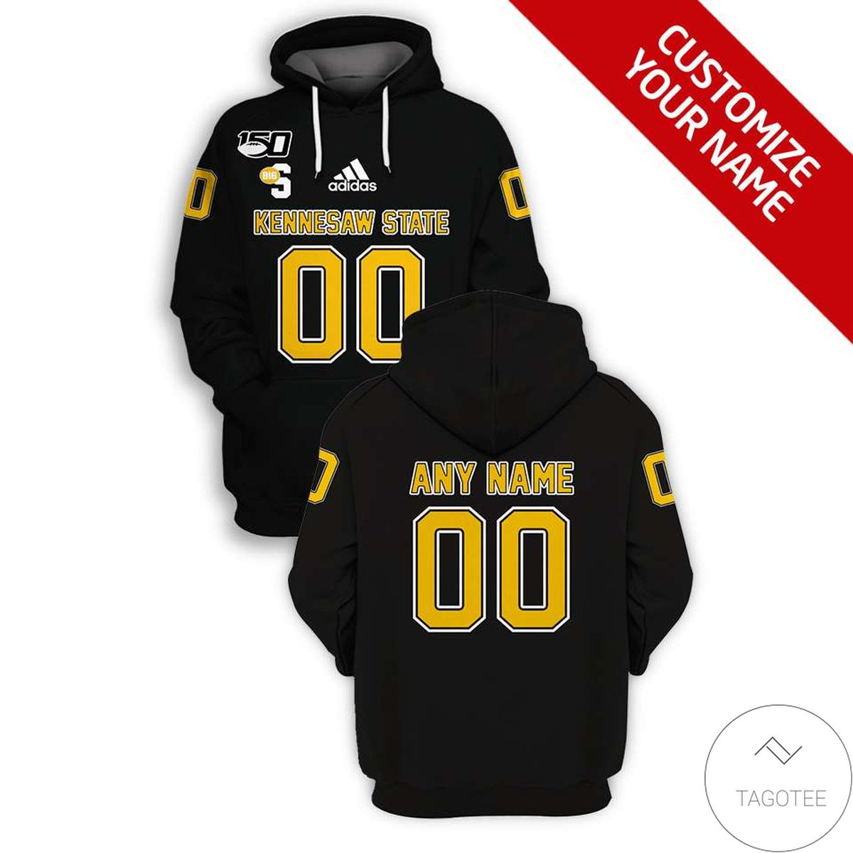 Personalized Kennesaw State Owls Branded Unisex 3d Hoodie
