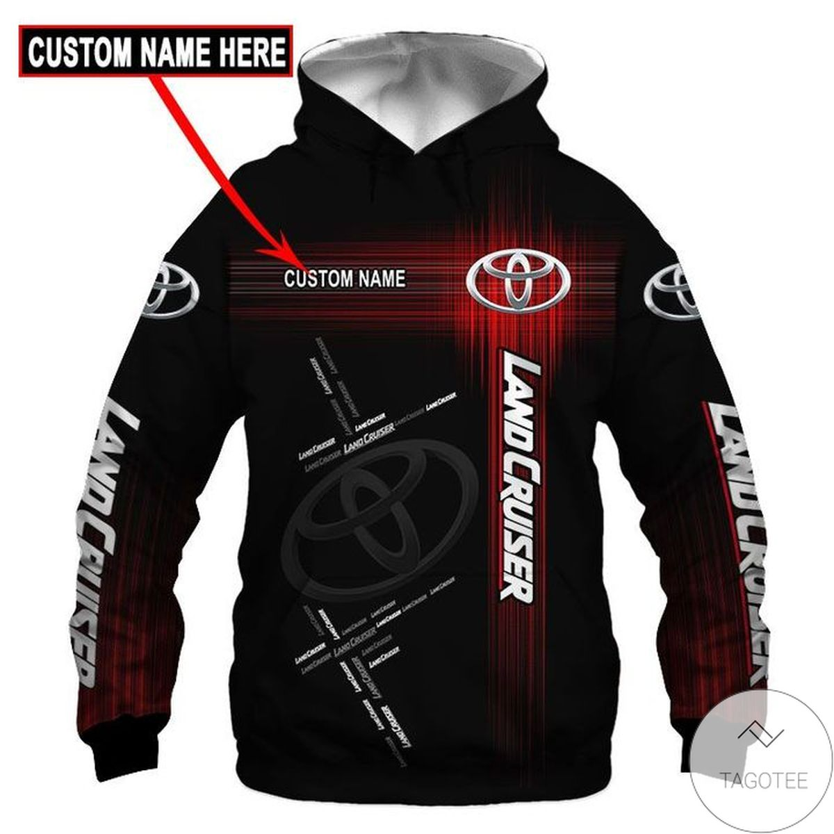 Personalized Landcruiser 3d Hoodie