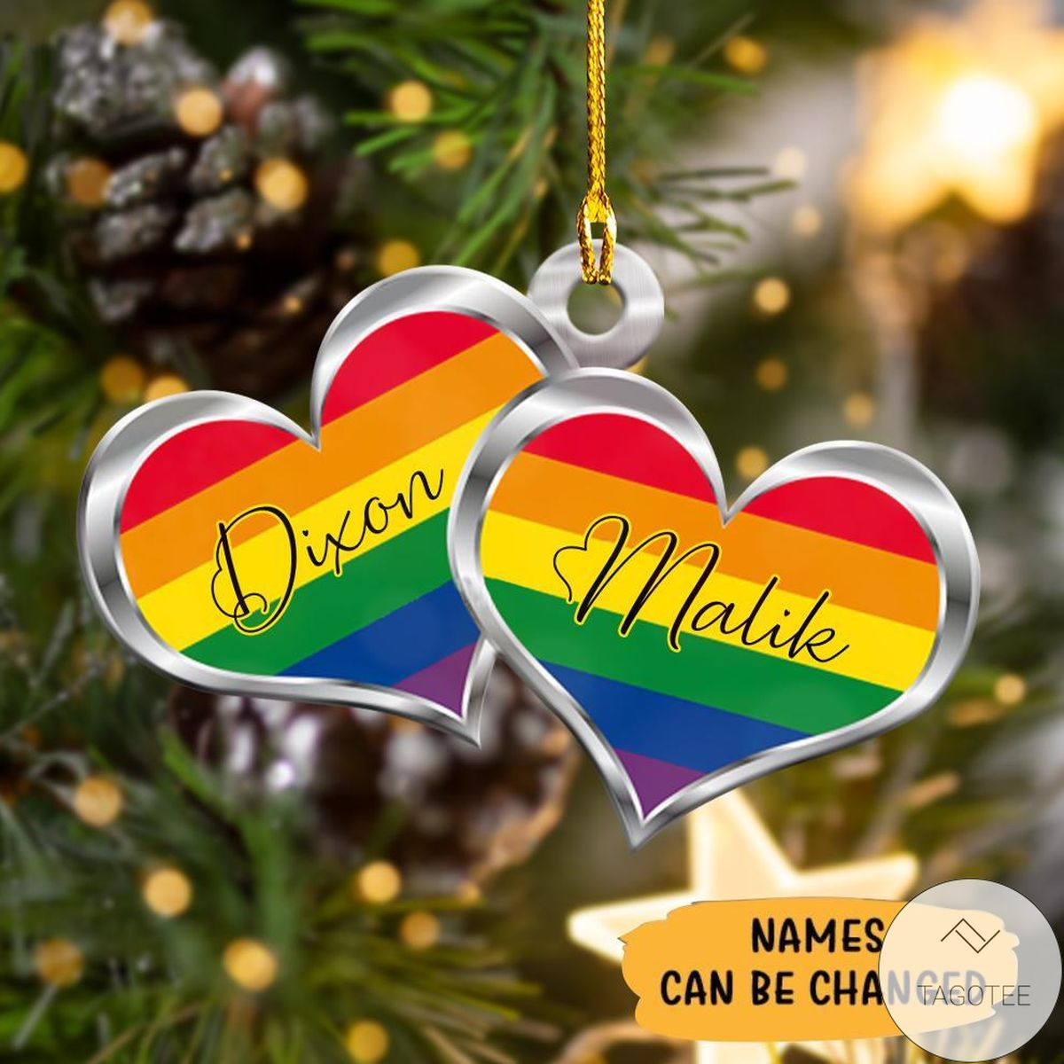 Top Personalized Lgbt Heart Shape Ornament