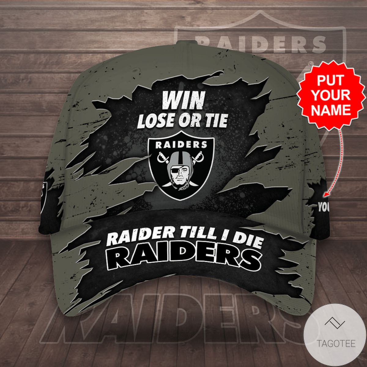 Personalized Los Angeles Raiders Cap