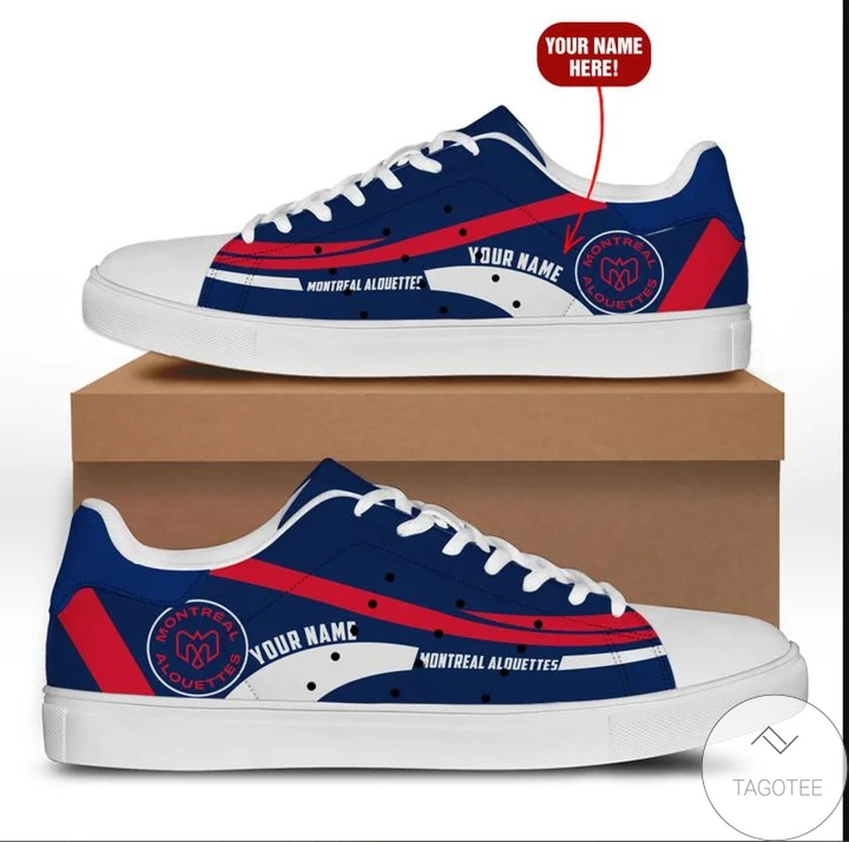 Beautiful Personalized Montreal Alouettes Stan Smith Shoes