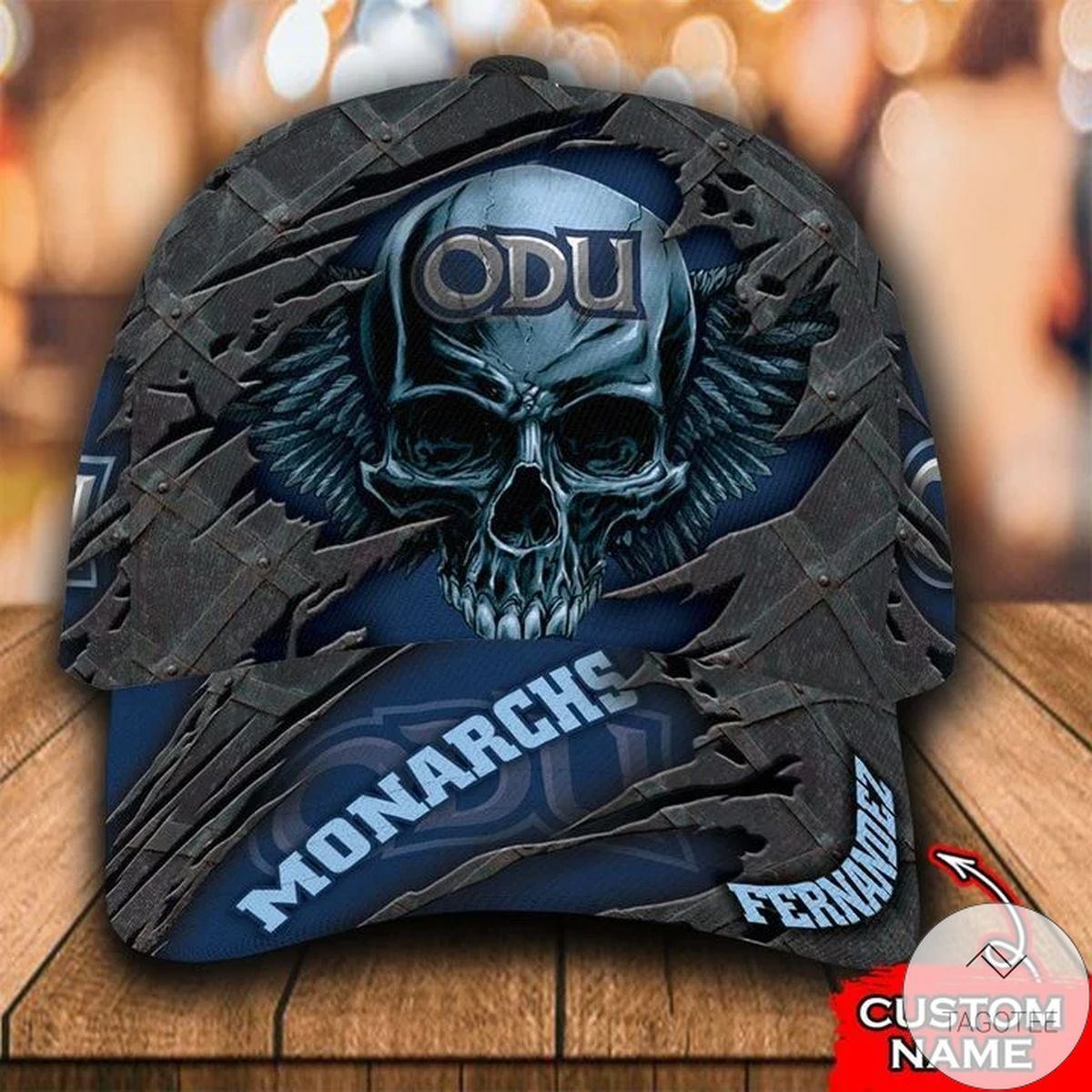 Personalized NCAA Old Dominion Monarchs 3D Skull Cap Classic