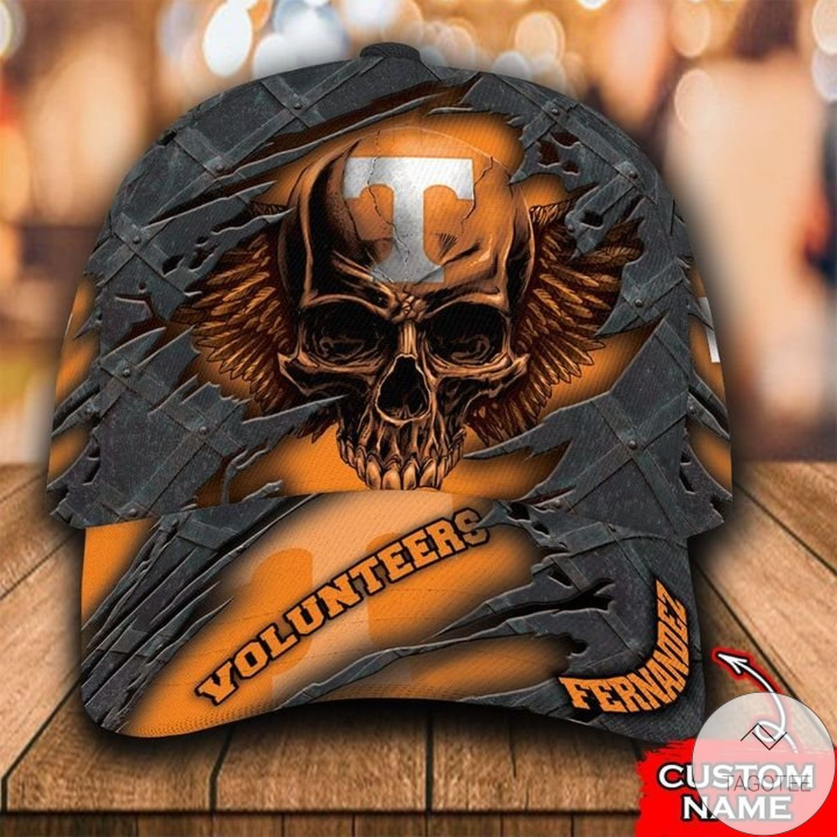 Personalized NCAA Tennessee Volunteers 3D Skull Cap