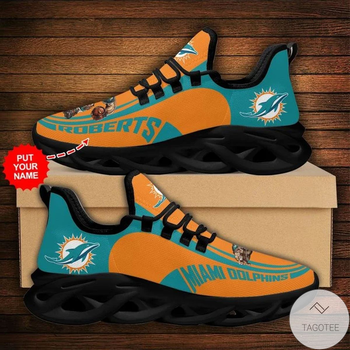 Personalized NFL Miami Dolphins Sneaker Max Soul Shoes
