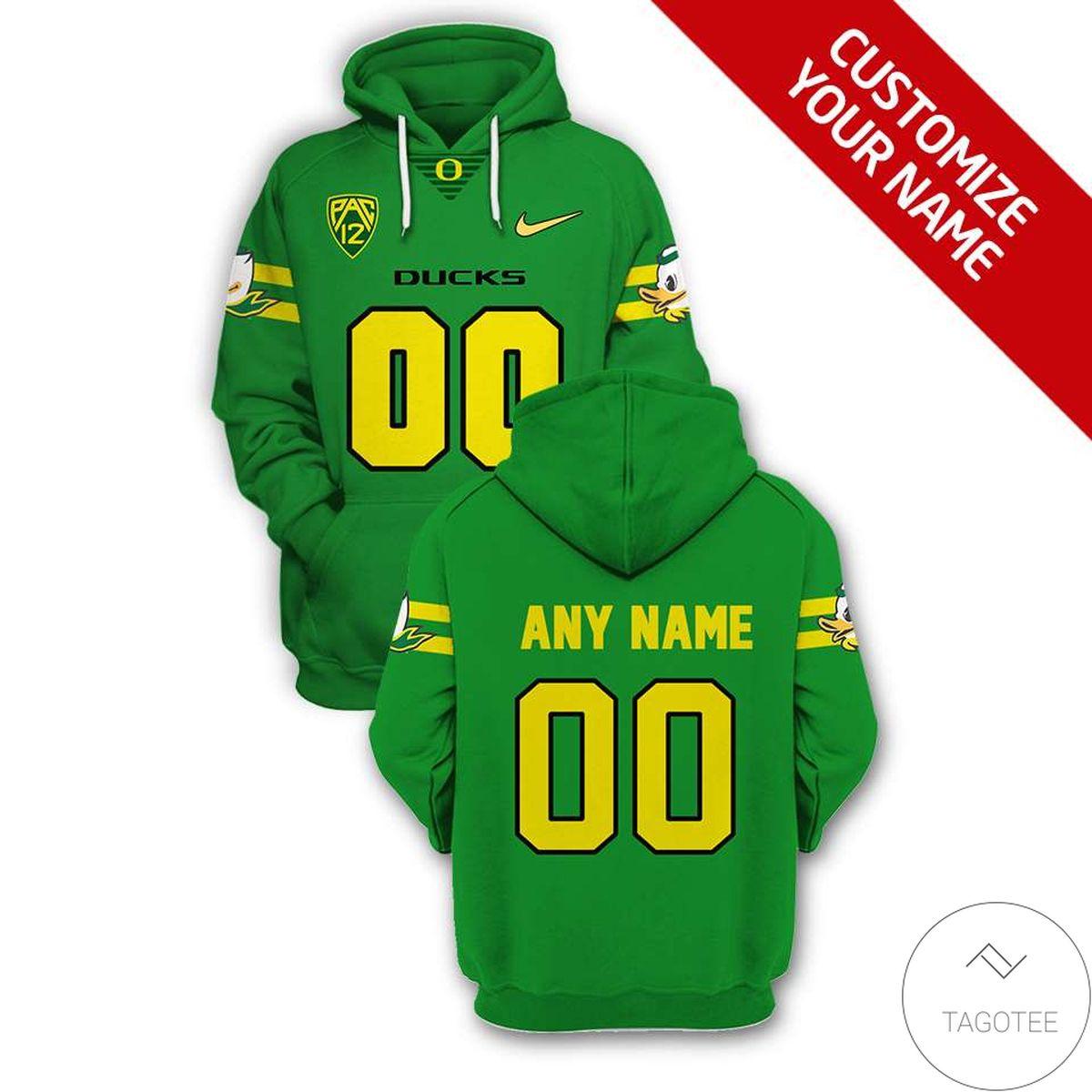 Personalized Oregon Ducks Branded Team Unisex 3d Hoodie