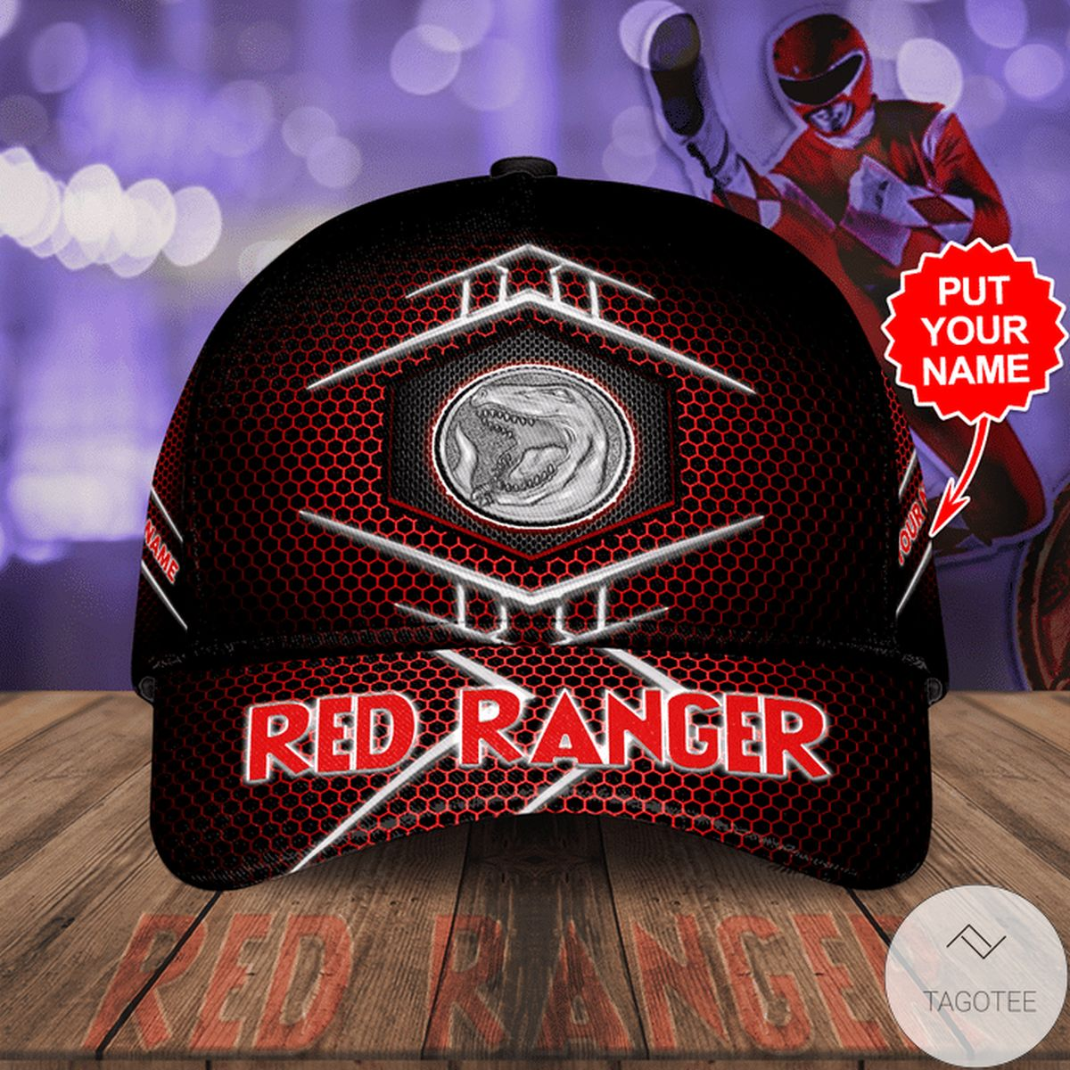 Personalized Red Ranger Cap