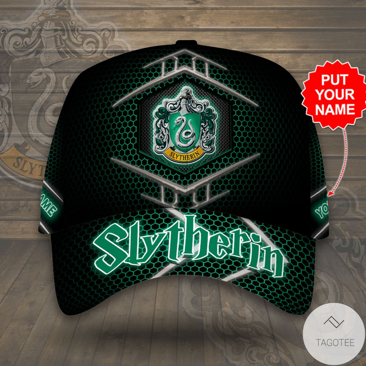 All Over Print Personalized Slytherin Harry Potter Cap