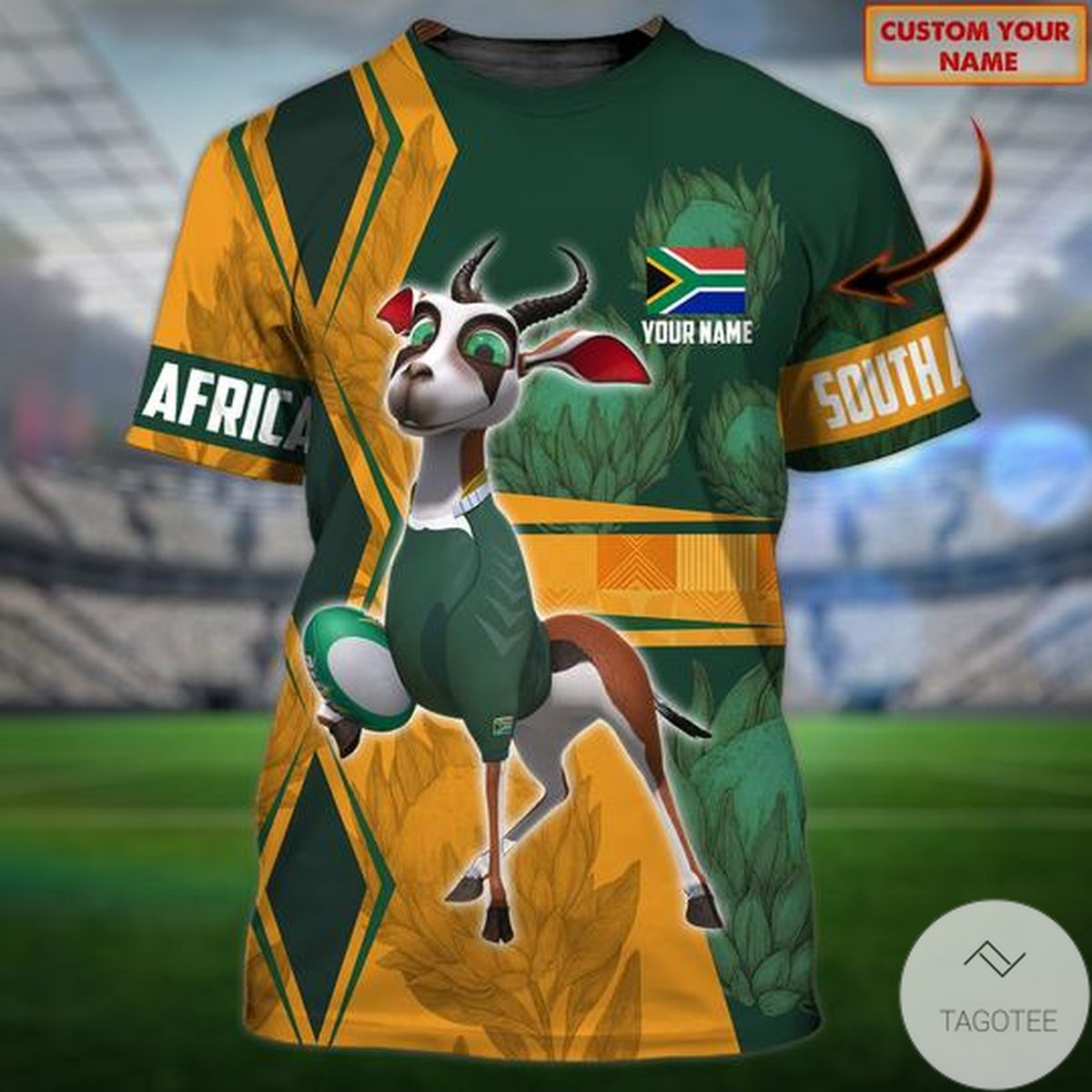 Personalized South Africa Rugby Union 3d Shirt