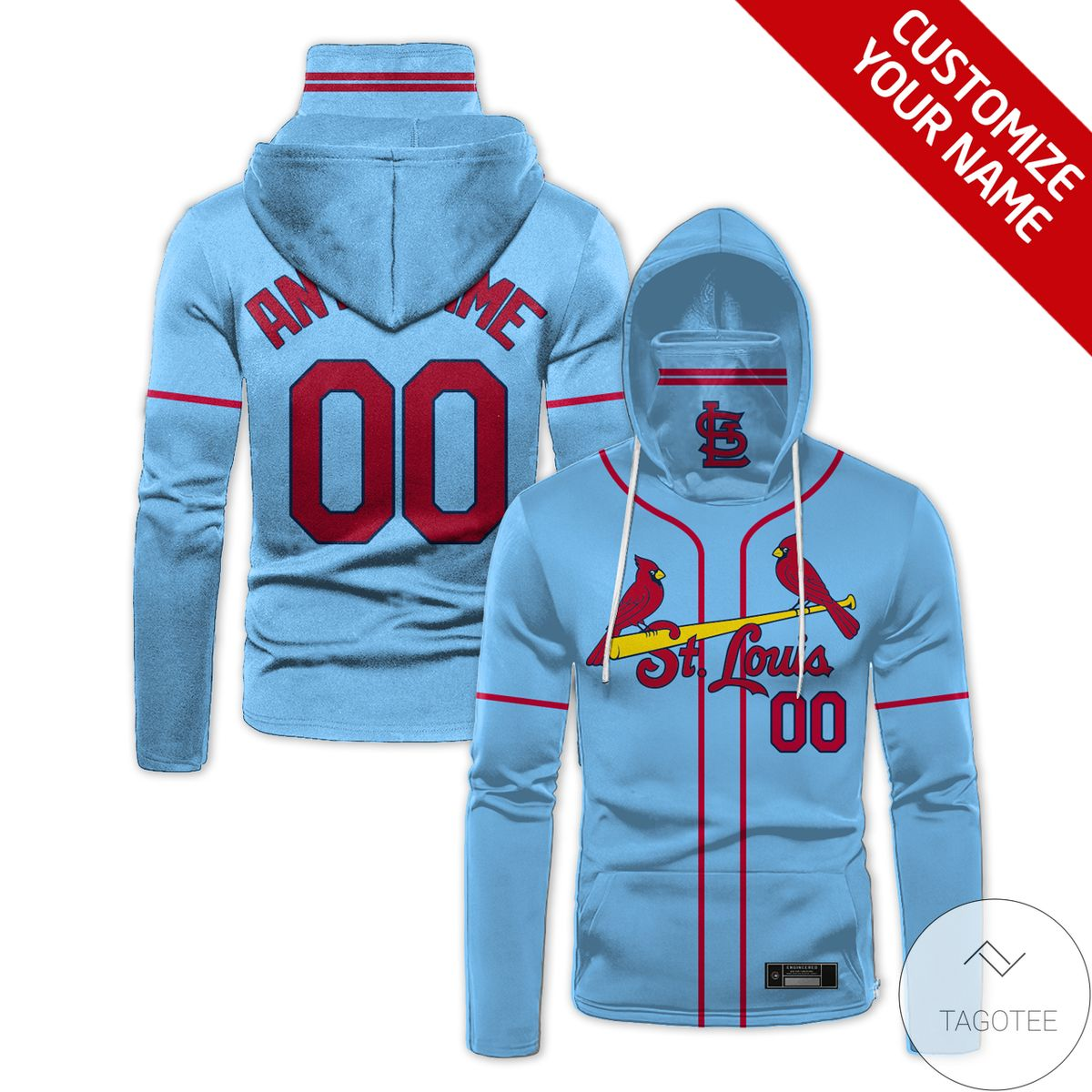 Mother's Day Gift Personalized St Louis Cardinals Gaiter Mask Hoodie