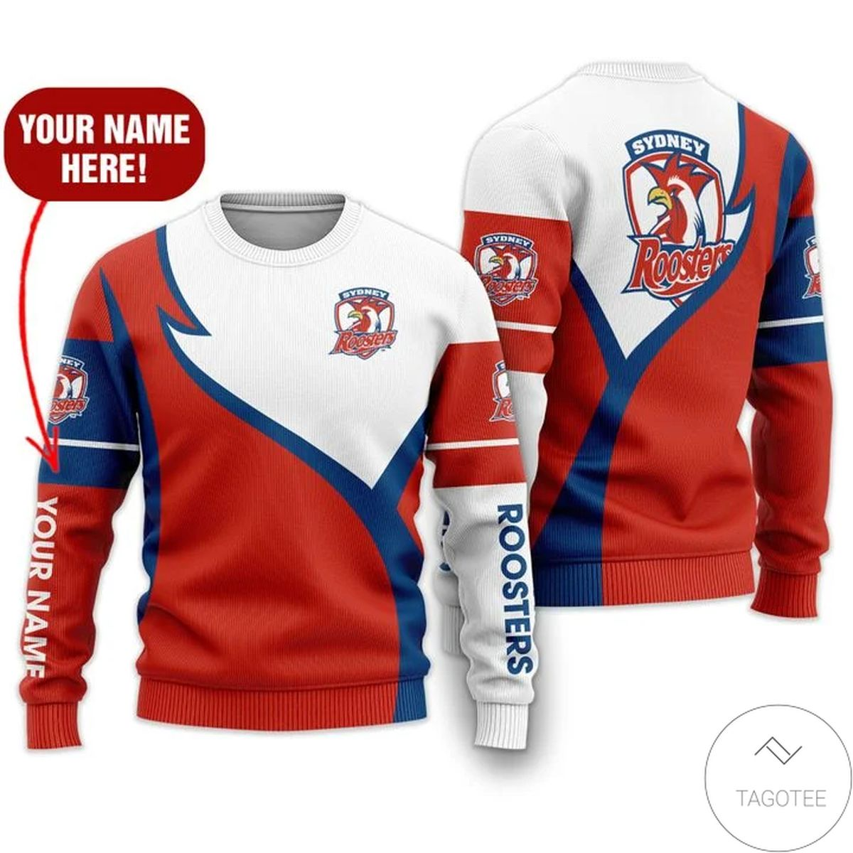 Personalized Sydney Roosters 3d Sweater