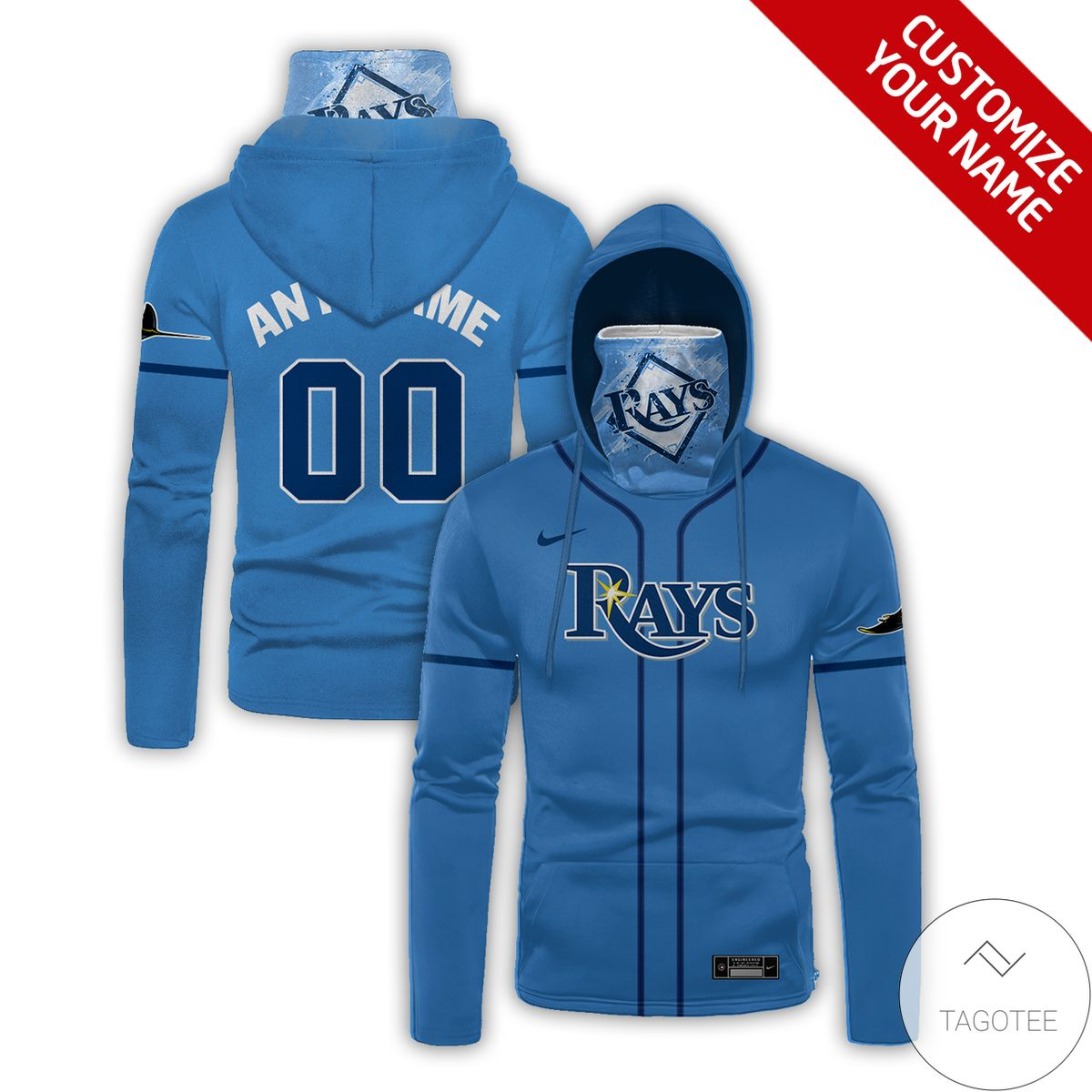 Vibrant Personalized Tampa Bay Rays Gaiter Mask Hoodie