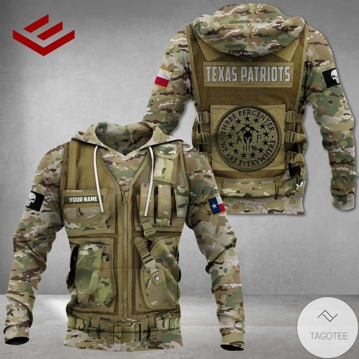 Limited Edition Personalized Texas Patriots Three Percenter We Are Everywhere Hoodie