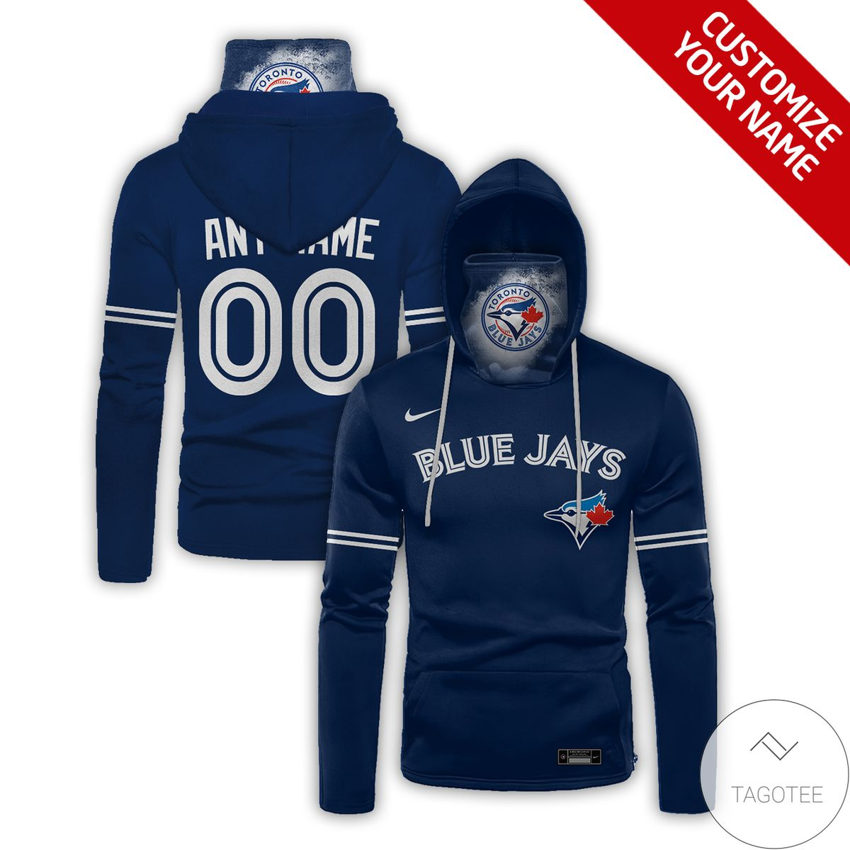 Hot Deal Personalized Toronto Blue Jays Gaiter Mask Hoodie