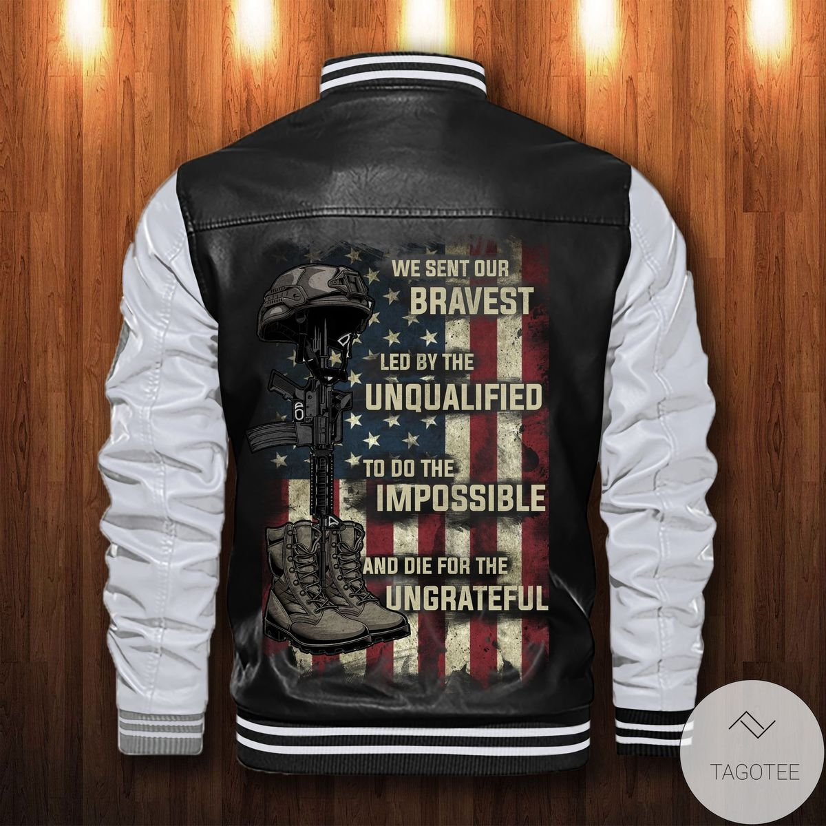 Great Personalized We Sent Our Bravest Led By The Unqualified Leather Bomber Jacket