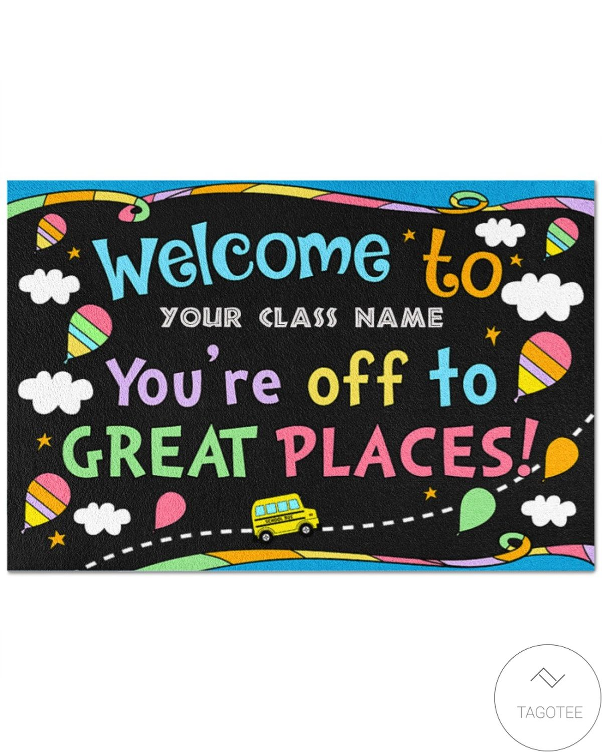 US Shop Personalized You're Off To Great Places Back To School Doormat