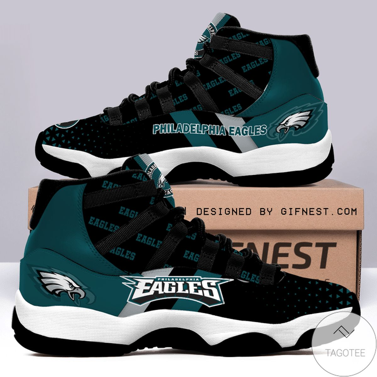 Nice Philadelphia Eagles Air Jordan 11 Shoes