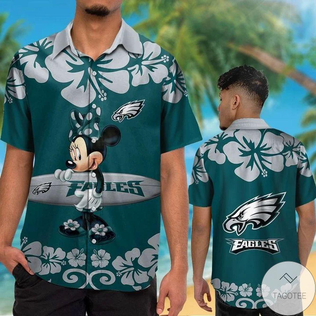 Philadelphia Eagles & Minnie Mouse Hawaiian Shirt