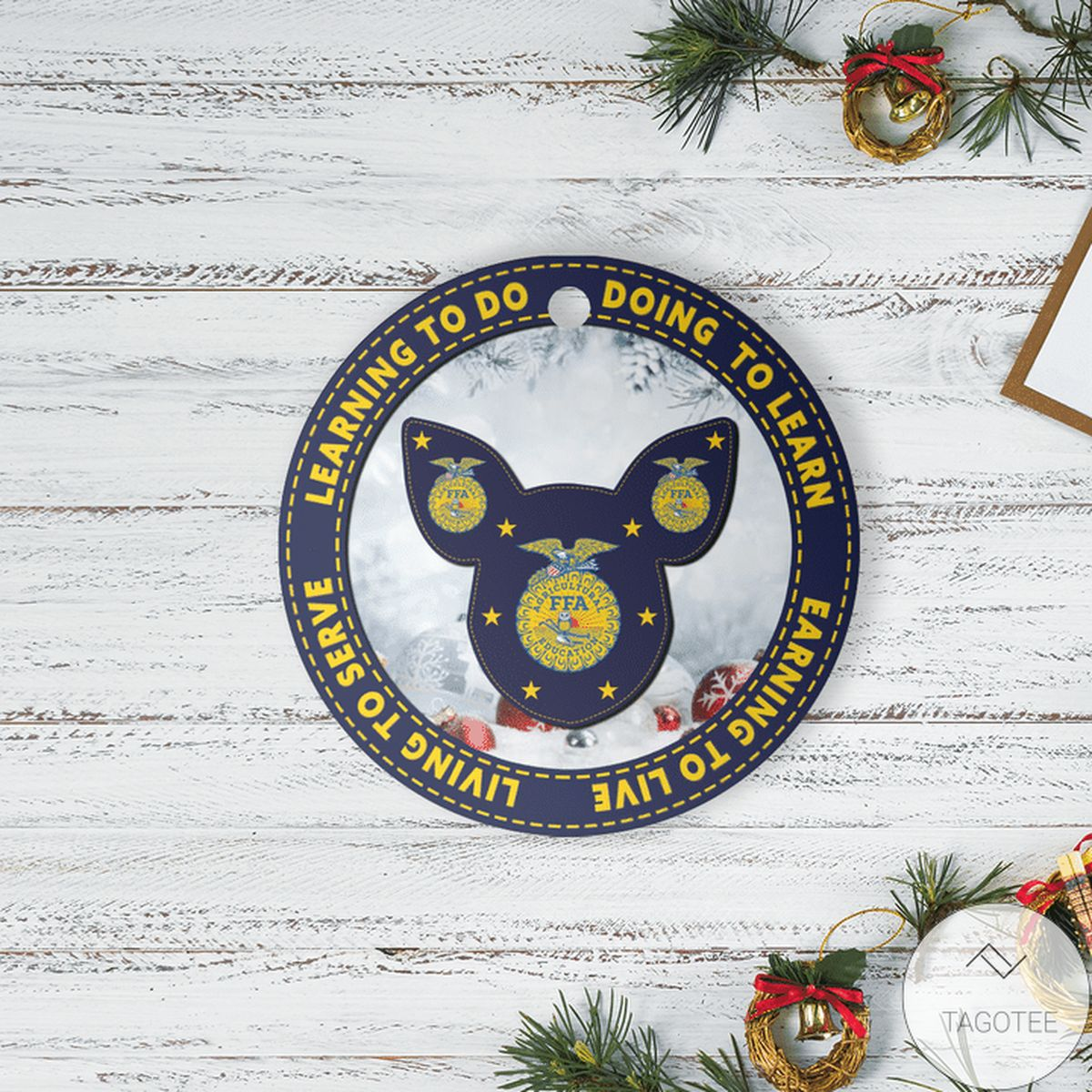 eBay Pig Learning To Do Doing To Learn Ffa Logo Ornament
